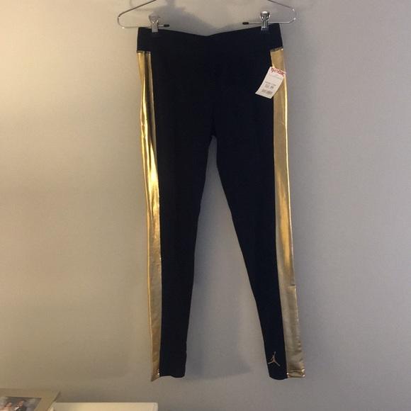 fef6dae1bc58 Black and Gold leggings 🌟 Jordan 🌟 kids XL
